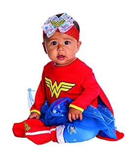 DC Comics Baby Wonder Woman Onesie And Headpiece