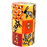 Single Boxed Hand-Painted Pillar Candle - Damisi Design