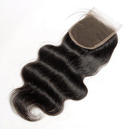 Danolsmann-Hair-Brazilian-Human-Hair-Lace-Closure-Body-Wave-Hair-Bleached-Knots-4x4-Inch-Free-Part-Natural-Black