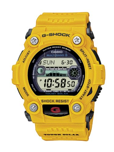 Casio G-shock GW-7900CD-9ER Men's Digital Quartz Watch with Grey Dial and Yellow Resin Strap