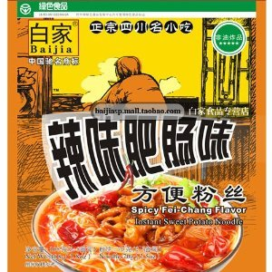 Sichuan Baijia Instant Sweat Potato Threadnoodle Spicy Artificial Fei-chang Flavor 370 Oz Pack Of 8