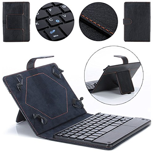 Hatop Universal 8-9 inch Bluetooth Keyboard Leather Stand Case For PC Tablet