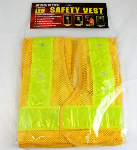 Brand New Maxsa Innovations Reflective Safety Vest With 16 Led Light