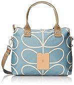Orla Kiely Linear Stem Zip Messenger Shoulder Bag