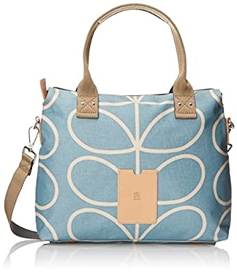 Orla Kiely Linear Stem Zip Messenger Shoulder Bag