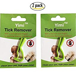 Mmei 2 package (1 large and 1 small for each) Green Pets Tick Twister For Dogs, Cats, Horses and Human - Fast Method of Removing Ticks