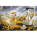 Tallenge - Krishna Confronts Bhisma In Battle - A3 Size Rolled Poster