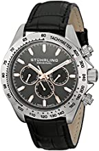 Stuhrling Original Men's 564L.01 Triumph Swiss Quartz Multifunction Grey Dial Watch