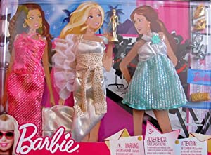 BARBIE 'Awards' FASHIONS Runway RED CARPET OUTFITS Clothes w Accessories (2009)