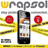 Wrapsol ラプソル【ULTRA Screen Protector】iPhone保護用透明クリアフィルム iPhone5用フロントフィルム WPIP5ULTR-FT