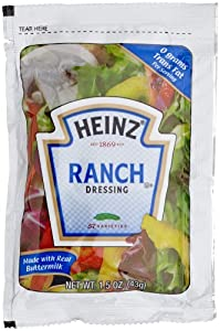 Heinz Ranch Dressing, 1.5-Ounce Single Serve Packages (Pack of 60)