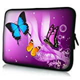 New Purple Butterfly Neoprene Case Cover Pouch Sleeve FOR TESCO HUDL