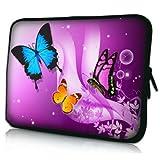 New Purple Butterfly Neoprene Case Cover Pouch Sleeve FOR TESCO HUDL