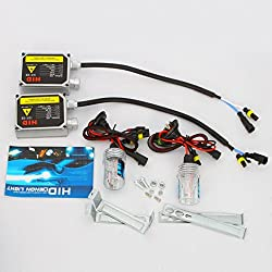 See Rosequartz H3 6000K 35W HID Xenon Car Lights Bulbs Conversion Kit Details