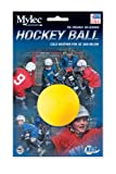Mylec Cold Weather No Bounce Hockey Balls, Yellow (Pack of 6)