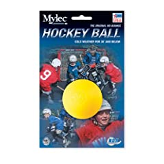 Buy Mylec Cool Weather Hockey Balls, (Pack of 6) Yellow by Mylec