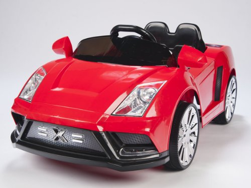 NEW LAMBORGHINI RACER-X STYLE RIDE ON 12V TWO SPEED BATTERY POWERED KIDS TOY CAR - WITH REMOTE CONTROL COLOR RED