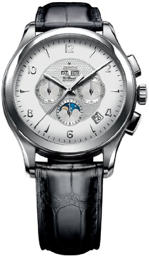 Zenith Men's 03.0520.4100.02.C492 Class Moonphase Strap Watch