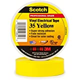 3M Scotch #35 Electrical Tape 10844-BA-10, 3/4-Inch by 66-Foot by 0.007-Inch, Yellow