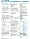 Microsoft Lync 2010 Telecommunications & Conferencing Quick Reference Guide (Cheat Sheet of Instructions, Tips & Shortcuts - Laminated Card)