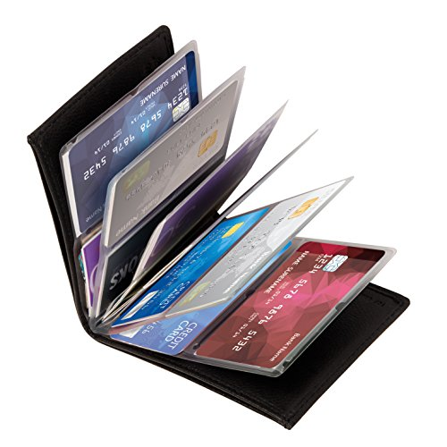 Wonder Wallet – Amazing Slim RFID Wallets As Seen on TV, Black Leather