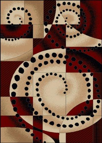 "3'3"" x 4'11"" Rectangular Radici USA 1675/4030 Black Color Machine Made Italian ""Vesuvio Collection"" Rug"