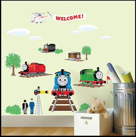 THOMAS AND FRIENDS THE TRAIN Decor Wall Sticker Kids TMS-701