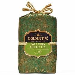 Golden Tips Earl Grey Green Tea Brocade Bag, 100g