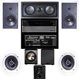 Klipsch R-1650-W In Wall #1 5.1 System(R-2502-WII)-Harman Kardon AVR-1650-FREE PL-200