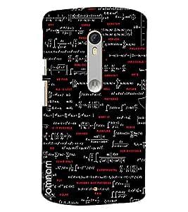 Omnam Mathermatical Formula Pattern Printed Designer Back Cover Case For Moto X Style
