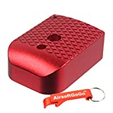 マルイ・WE ハイキャパ5.1ガスブローバック用アルミ マガジンバンパー(赤) 【AirsoftGoGoキーホルダー付】