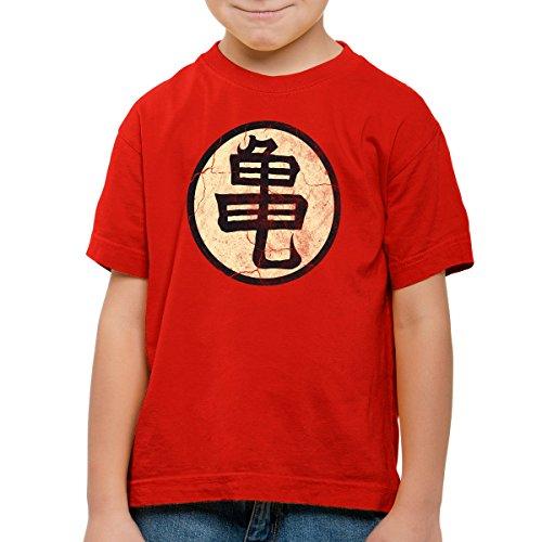 style3-Goku-Roshis-Turtle-School-Camiseta-para-Nios-T-Shirt-ColorRojoTalla164