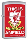 Zippo Official Liverpool FC This Is Anfield Windproof Lighter - Satin Chrome