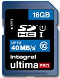Integral 16GB UltimaPro SDHC Class 10 Memory Card