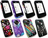Emartbuy® LG KU990 Viewty Bundle Pack of 4 Silicon Skin Cover/Case - Purple Daisy, Black Potpourri, Shooting Stars & Twilight Stars
