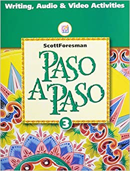 PASO A PASO 1996 SPANISH STUDENT EDITION WORKBOOK TAPE MANUAL LEVEL 3