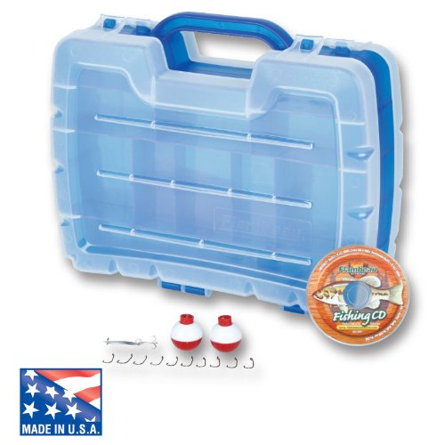 Flambeau Tackle Kid's Satchel Tackle Box (Blue , 11.25x3.5x9.25-Inch)