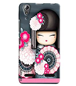 Omnam Chinese Dance Cartoon Effect Girls Printed Designer Back Cover Case For Lenovo A6000
