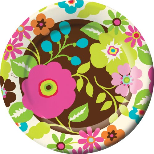 Rachel's Garden Designer Banquet Dinner Plates (8) Party Supplies
