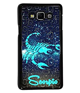 Fuson 2D Printed Sunsign Scorpio Designer back case cover for Samsung Galaxy A7 - D4465