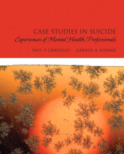 Case Studies in Suicide: Experiences of Mental Heath...