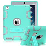 iPad 2 Case,iPad 3 Case,iPad 4 Case,BENTOBEN [ Kickstand ],Shock-Absorption / High Impact Resistant Rugged Hybrid Three Layer Armor Protective Case for iPad 2/3/4,(Not Fit iPad Mini) Mint Green&Gray