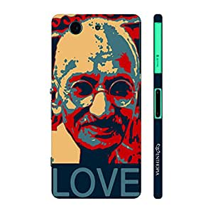 Enthopia Designer Hardshell Case Gandhi Love Back Cover for Sony Xperia Z4 Mini