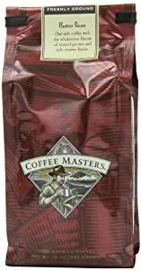 Coffee Masters Flavored Coffee, Butter Pecan, Ground, 12-Ounce Bags (Pack of 4)
