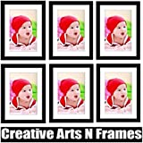 Creative Arts N Frames Black Photo Frame With White Mat Set Of 6 / Wall Hanging/ Table Photo Frame ( Photo Size...