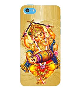 ColourCraft Lord Ganesha Design Back Case Cover for APPLE IPHONE 5C