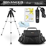 Tripod Bundle Kit For Nikon D7200, Df, D750, D5300, D3300, D5200, D3200, D3100 D5100 D7100 D600 D610 D800 D810 Digital SLR Camera Includes 57 Inch Tripod + Remote Shutter Release + Carrying Case ++