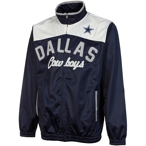 Dallas Cowboys Contrast Yoke Track Jacket (Blue/White, Large) at Amazon.com