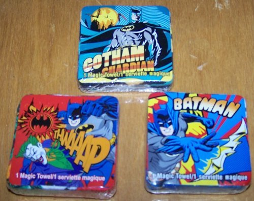 Set of 3 Batman Magic Pop Up Towel Wash Cloth - varied