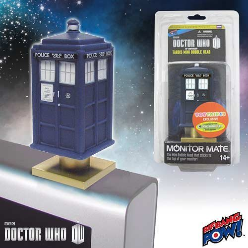 Bif Bang Pow! Doctor Who TARDIS Monitor Mate Bobble Head-Toy Fair Exclusive